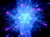 stock photo of higgs boson  - Colorful explosion in space computer generated abstract background - JPG