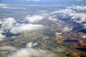 picture of lowlands  - Aerial photo taken during a flight over the lowlands of Scotland in February - JPG