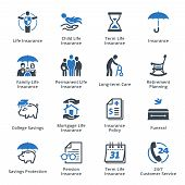 picture of life-support  - This set contains life insurance icons that can be used for designing and developing websites - JPG