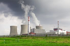 picture of reactor  - Nuclear power plant Temelin in Czech Republic Europe - JPG