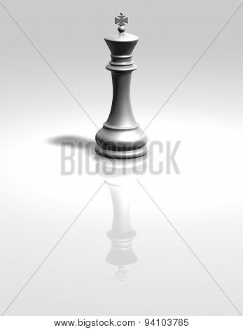 Chess King White Isolated Figurine Illustration