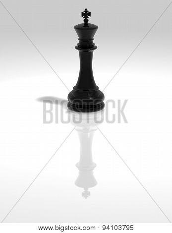 Chess King Black Figurine Isolated