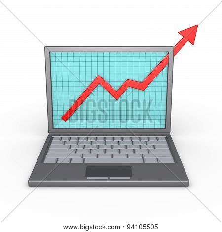 Laptop And Good Financial Results