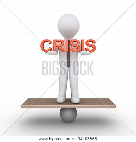 Businessman Is Balancing Holding Crisis