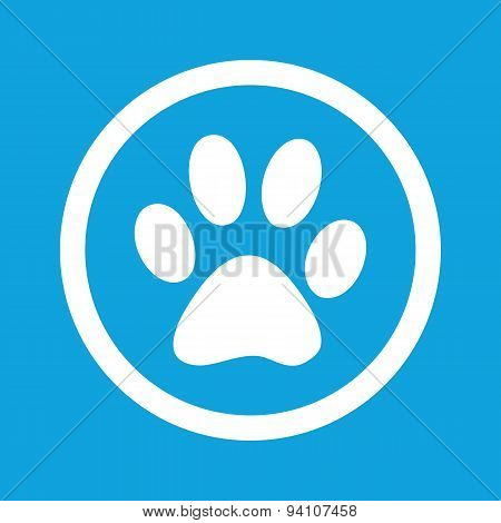 Paw sign icon