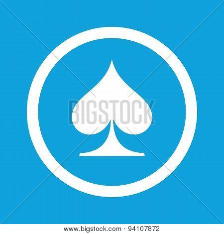 Spades sign icon