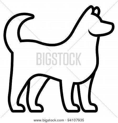 Vector Stylized Dog Illustration Isolated On White Background