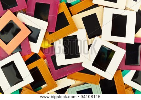 Photo frames for slide - art background