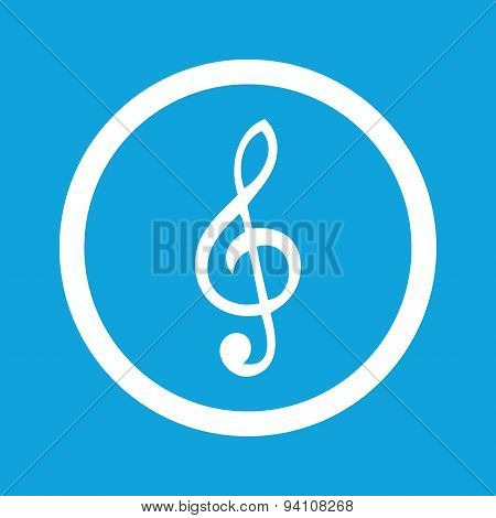 Treble clef sign icon