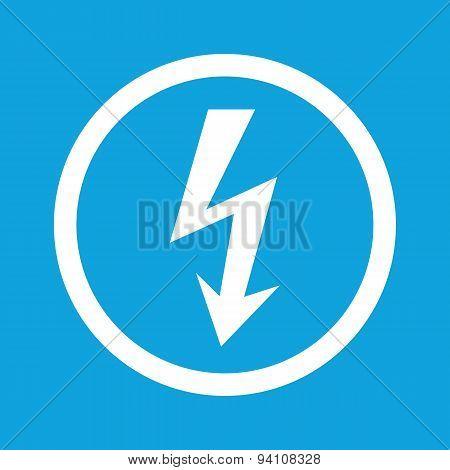 Voltage sign icon