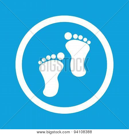 Footprint sign icon