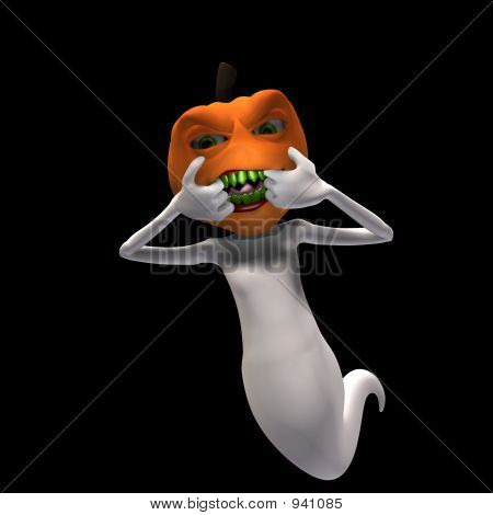 Pumpkin Headed Ghost 3