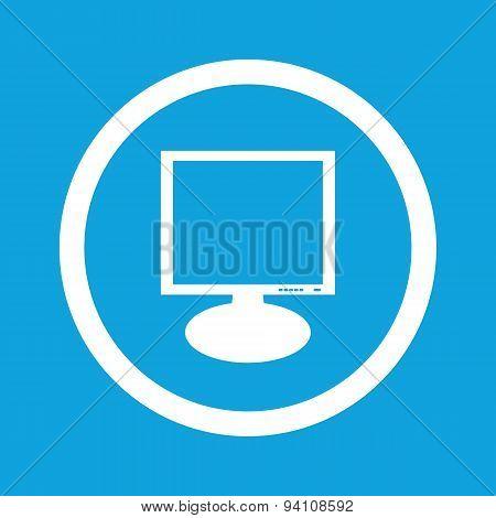 Monitor sign icon