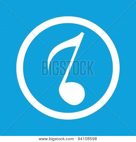 Eighth note sign icon
