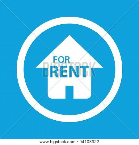 House for rent sign icon