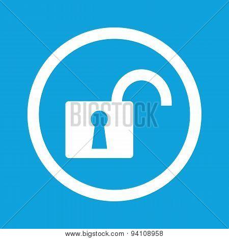 Unlocked sign icon