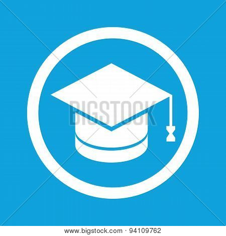 Graduation sign icon