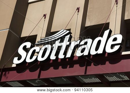 Scottrade Exterior Sign And Logo