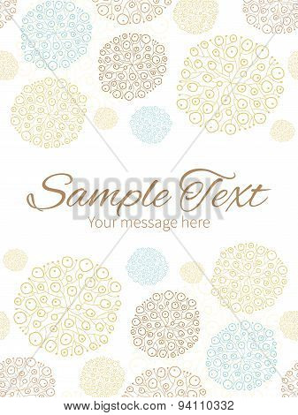 Vector blue brown abstract seaweed texture vertical double borders frame invitation template