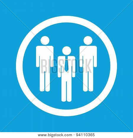Work team sign icon