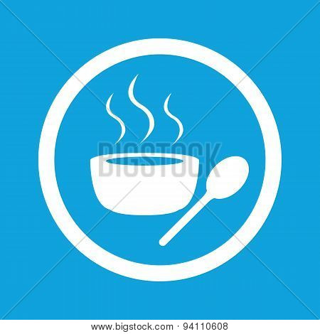 Hot soup sign icon