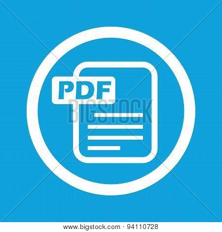 PDF file sign icon