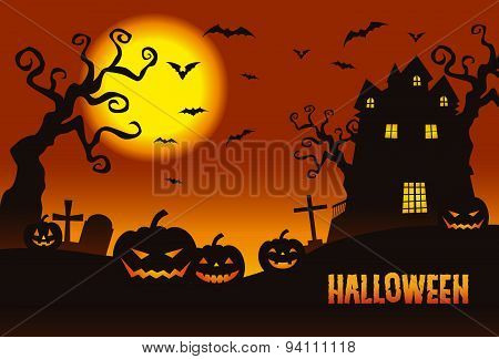 Halloween, Pumpkins & A Haunted Mansion In The Twilight