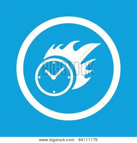 Burning clock sign icon
