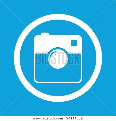 Square camera sign icon