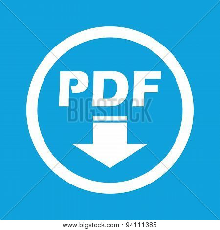 PDF download sign icon