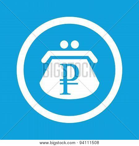Ruble purse sign icon