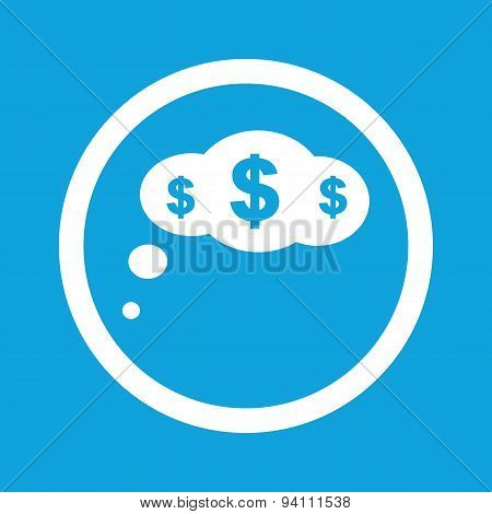 Dollar thought sign icon