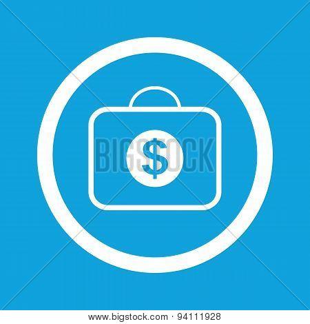 Dollar bag sign icon