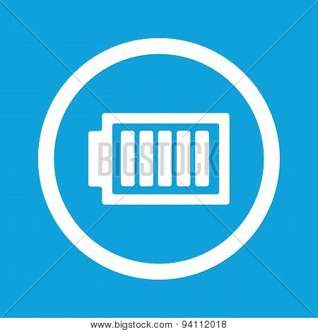 Fully charged battery sign icon