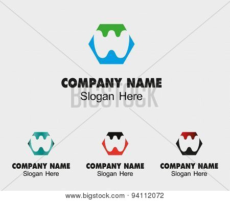 Letter W alphabet logo vector letter W icon