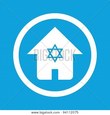 Jewish house sign icon