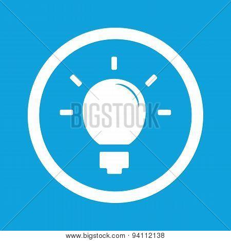 Light bulb sign icon