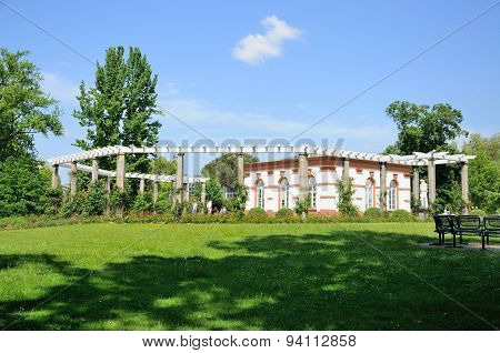 Nature And A White Building in Frankfurt Am Main, Hessen, Germany