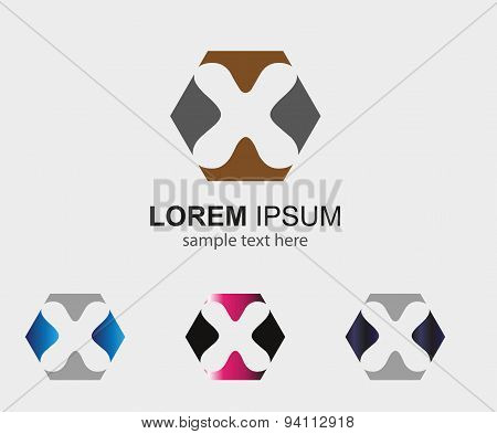 Letter H logo Company name template