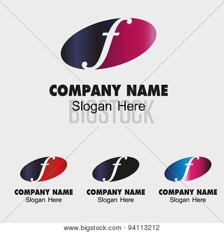 Letter F logo design template letter F icon