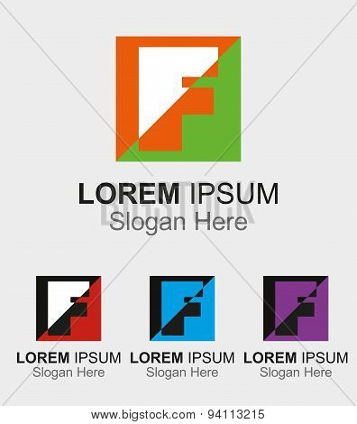 Letter F logo design sample icon