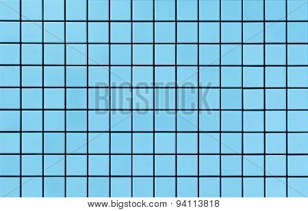 Light blue mosaic tiles texture
