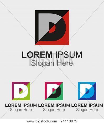 Letter D logo design sample icon