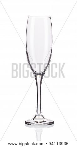 Close up of empty wine glass.