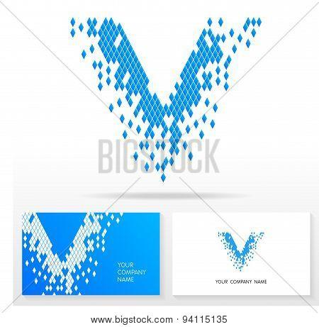 Letter V logo icon design template elements - Illustration.