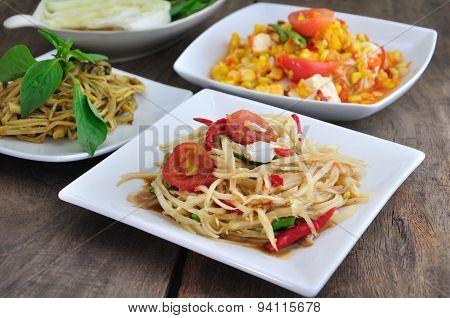 Spicy Thai Food.