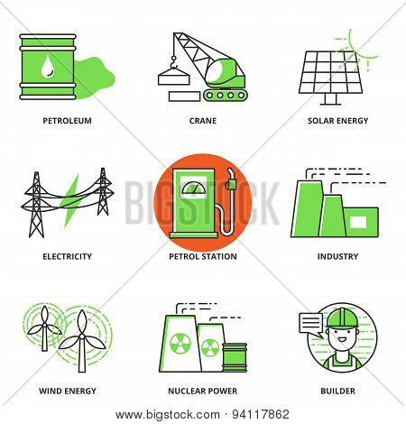 Industry Vector Icons Set