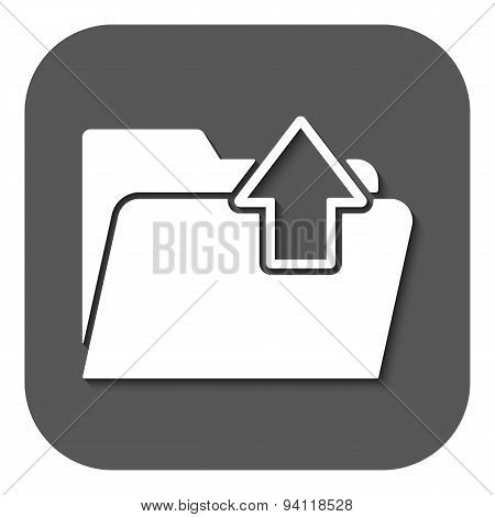 The Folder Icon. Download Symbol. Flat