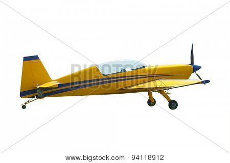 The image of a sport propeller airplane