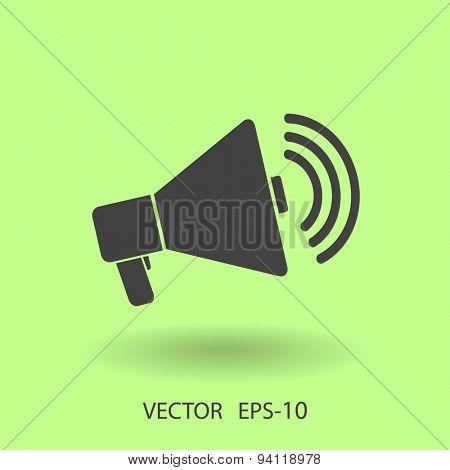 Flat icon of megaphone